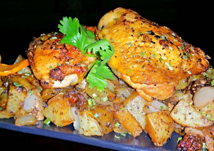 Mike's Garlic Chicken & Potatoes