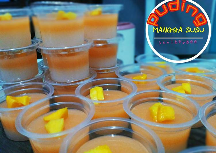 Puding cup (mangga &susu)