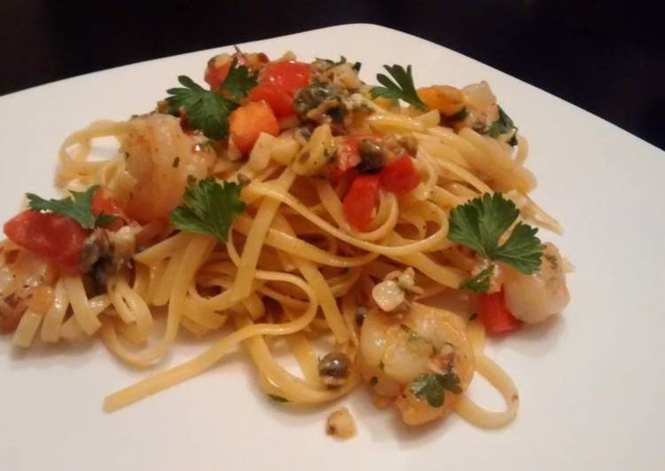 Shrimp scampi & linguine