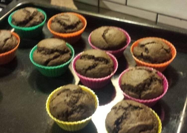 Chocolate Veggie Muffins