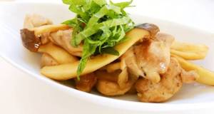 Chicken Thigh and King Oyster Mushroom Butter Ponzu Stir-fry