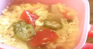 Okra  Tomato Soup with Refreshing Vinegar