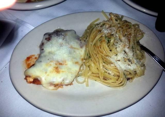 Chicken Parmesan and spaghetti