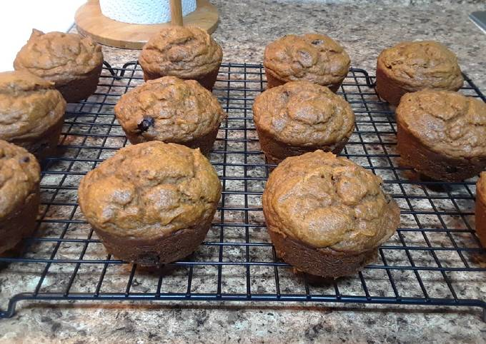 Pumpkin Banana Muffins (or Bread)