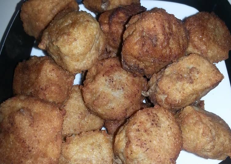 Easy fried meatballs-kofta panne
