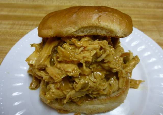 Crock Pot Honey Mustard Pulled BBQ Chicken