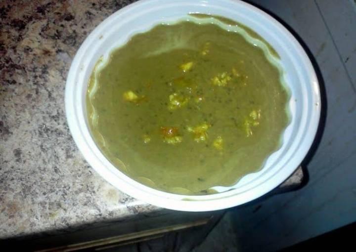Black Bean Coconut Soup w/Shrimp