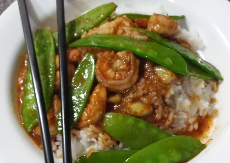 🔥Spicy Malaysian Shrimp & Snowpeas
