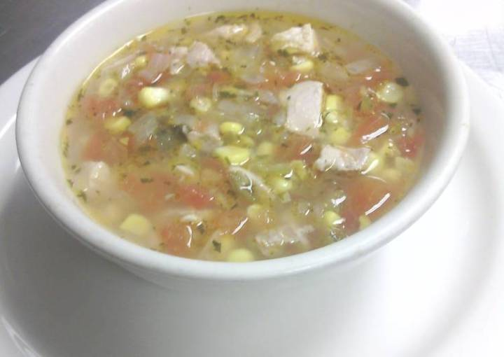 Chicken, Corn, and Lime Soup
