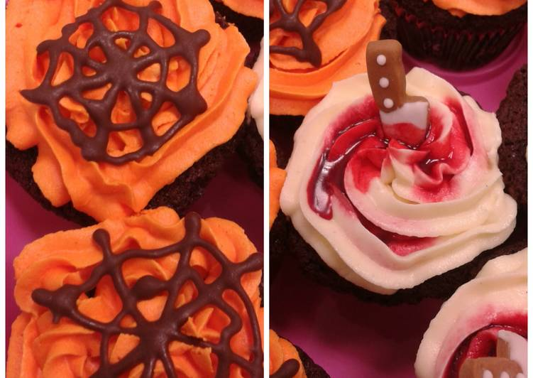 Spooky chocolate cupcakes