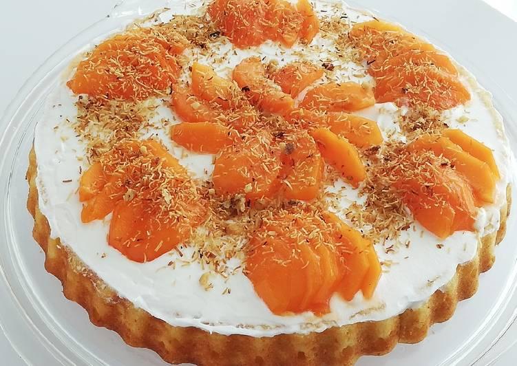 Gateau aux abricots frais