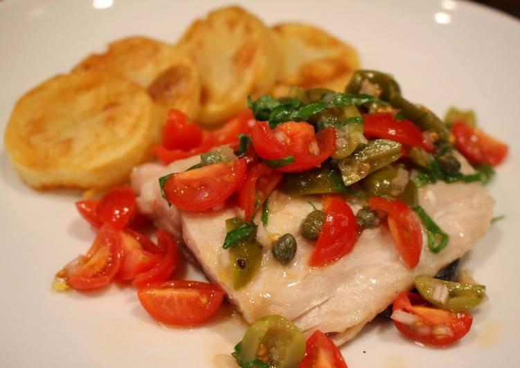 Quick & Easy No-Cook Mediterranean Tomato Melange for Fish & Chicken