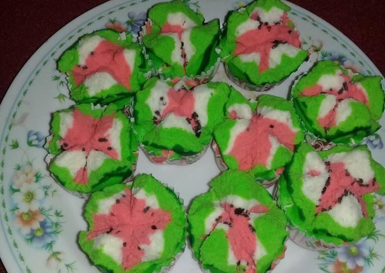 Bolu kukus mekar semangka