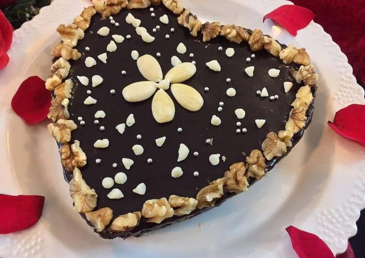 Walnuts Biscuit chocolate no bake cake