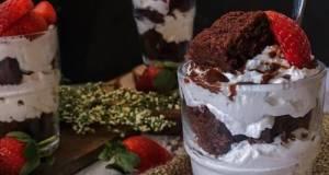 Strawberry Brownies Cheesecake Trifle #SyedMunawwar