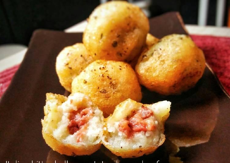 Italian bitterballen potato cheese beef