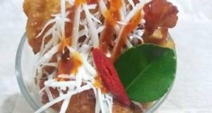 Ayam goreng keju saus daun jeruk
