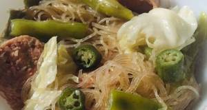 Rice Vermicelli With Sausages (Asian Bihon Noodles With A Twist)