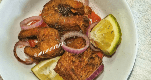 Panfried Paprika Ayu Fish || Hot Fried Fish