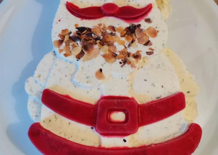 Père Noel en nougat glacé