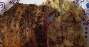 Seasoned Bacon Wrapped Crock Pot Pork Loin