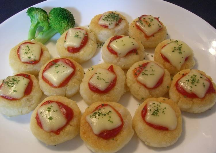 Okara Mochi Pizza Bites