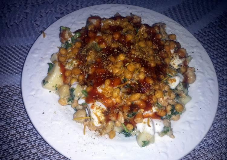 spicy salad chana chat