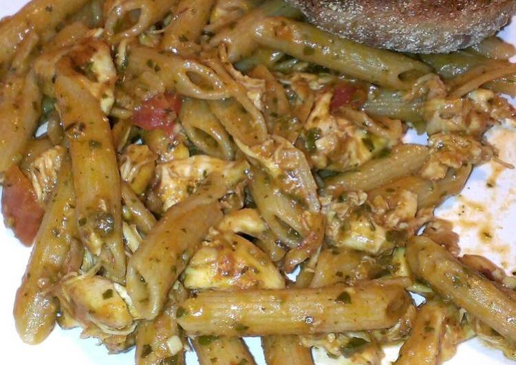 Tomato pesto chicken penne