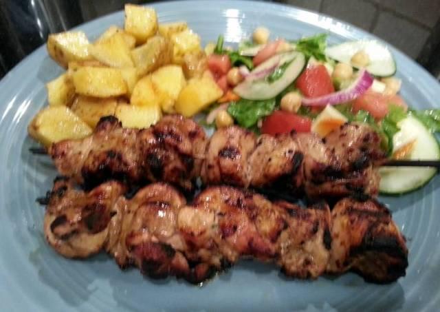 Grilled Skewered Chicken
