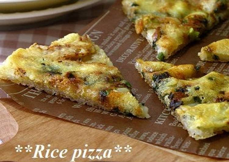Calcium-Packed Rice and Shirasu Pizza