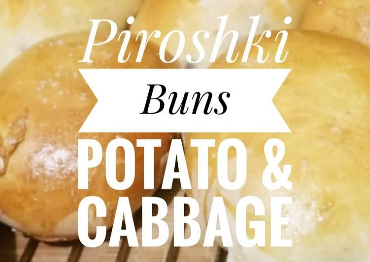 Baked Piroshki Buns- Potato, Cabbage, & cheese 🥔🥬🧀