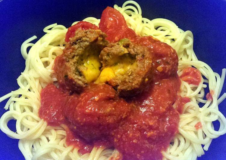 Sophie's jalapeno cheese filled meatballs