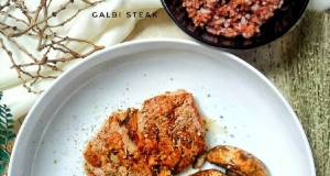 Galbi steak with rice