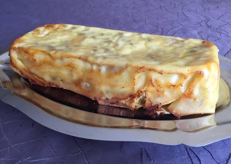 Gâteau lasagne chou-fleur/porc/brebis