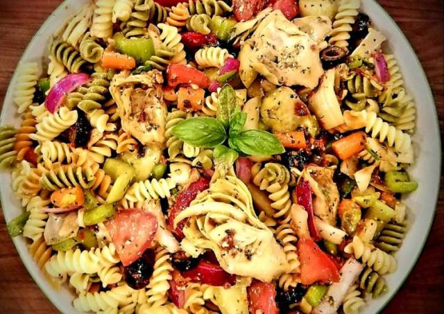 Mike's Chilly Tangy Feta Summertime Pasta Salad