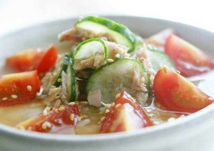 Perfect When the Weather's Hot! Spicy Chilled Miso Soup