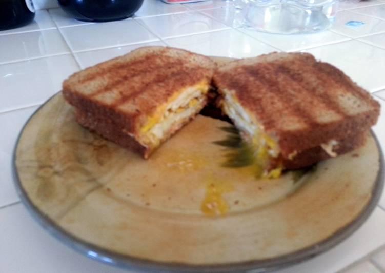 Monster Ham & Egg breakfast Panini