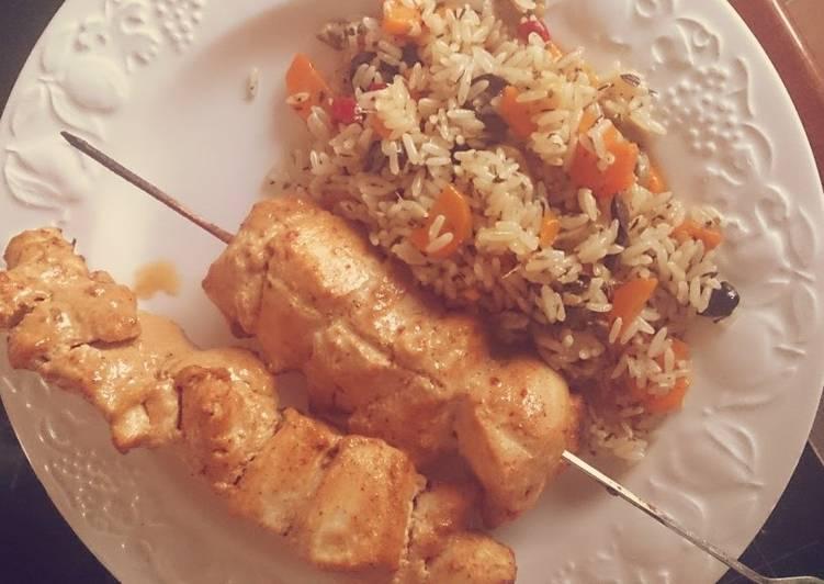 """""""BIG SH!T"""" - Spicy Chicken Kebab"""