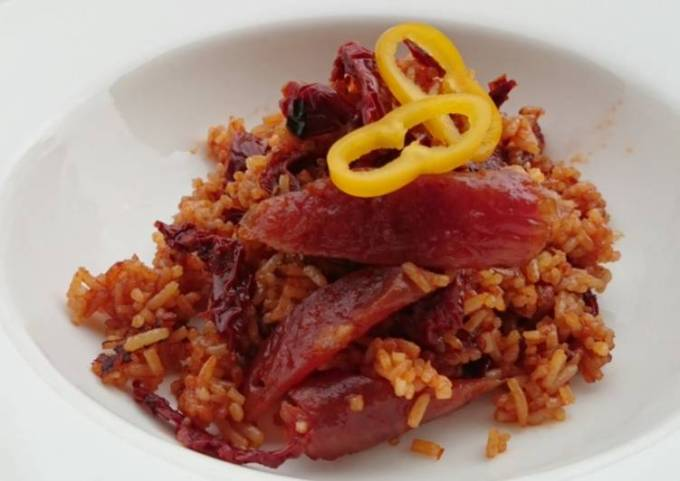 Chinese Sausage And Sun Dried Tomato Fried Rice