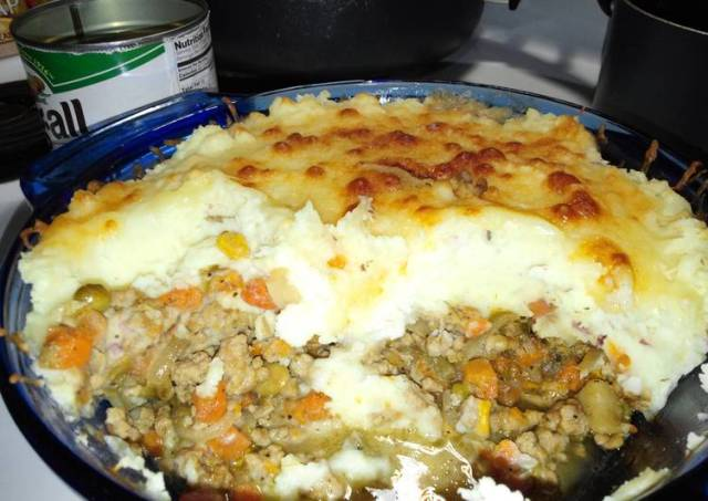 Pork Shepherd Pie (with Italian flair)