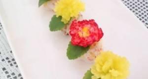 Radish Dandelion Sushi Balls For Doll Festival or Mothers Day