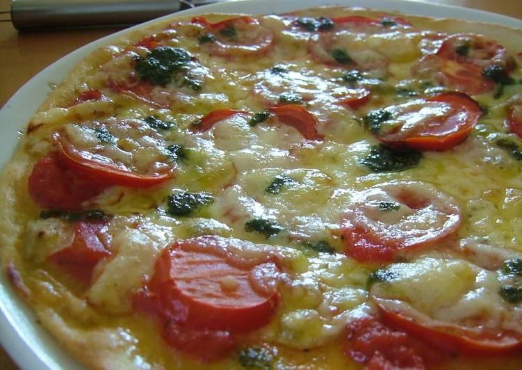 Healthy Crispy Pizza with Okara