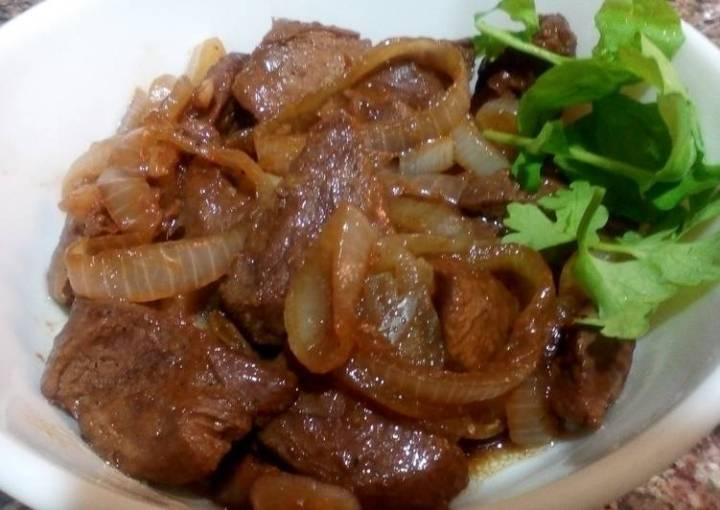 Beef steak philippine stlye