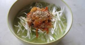 Salty Ramen with Leek and Kimchi