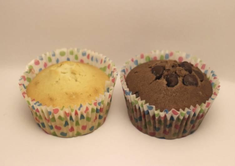 Easy Vanilla and chocolate cupcakes
