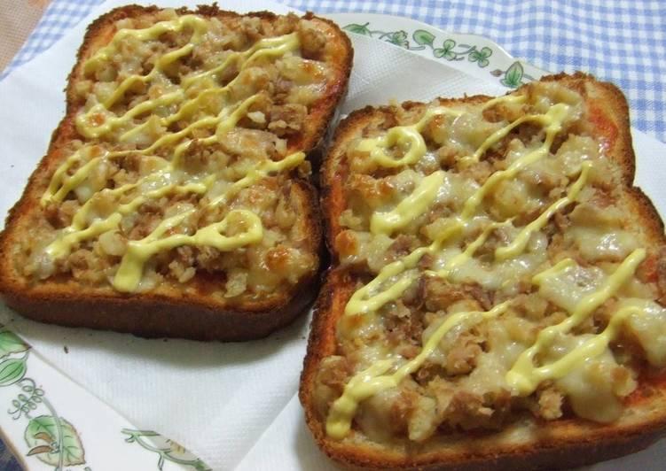 Tuna and Potato Pizza Toast