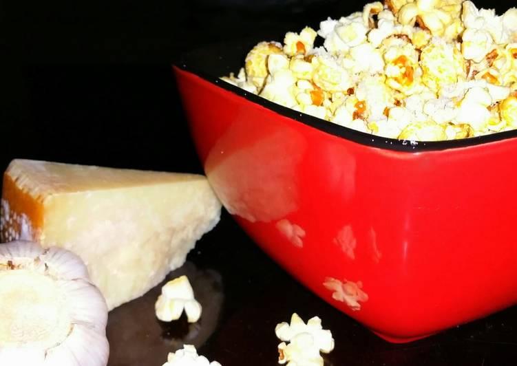 Mike's Garlic Parmesan Popcorn