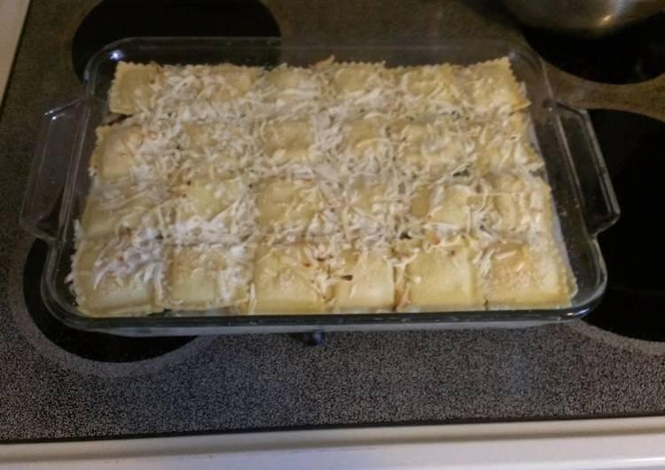 Shortcut white chicken lasagna
