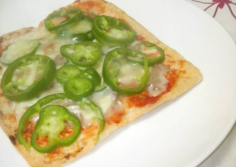 Low Carb Aburaage Pizza Appetizer