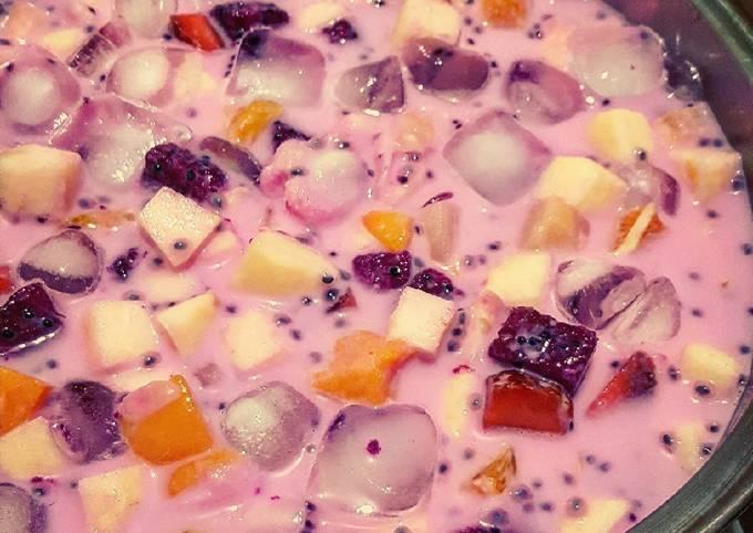 Pink Blossom Fresh Fruit Soup